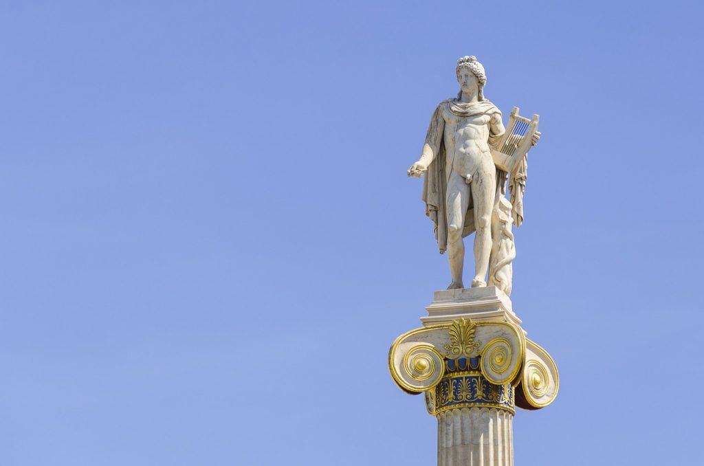 Apollo statue at (Modern) Academy of Athens, Greece