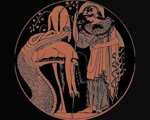The Return of Jason (red-figure kalyx, Etruscan, Italy, c. 470 B.C.)