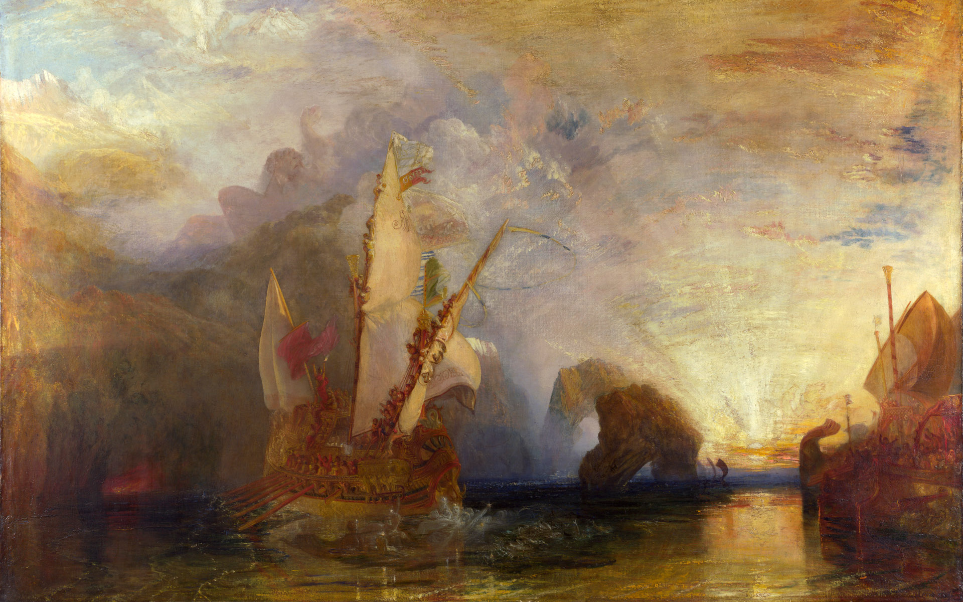 Ulysses Deriding Polyphemus. J. M. W. Turner, 1829. Creative Commons.