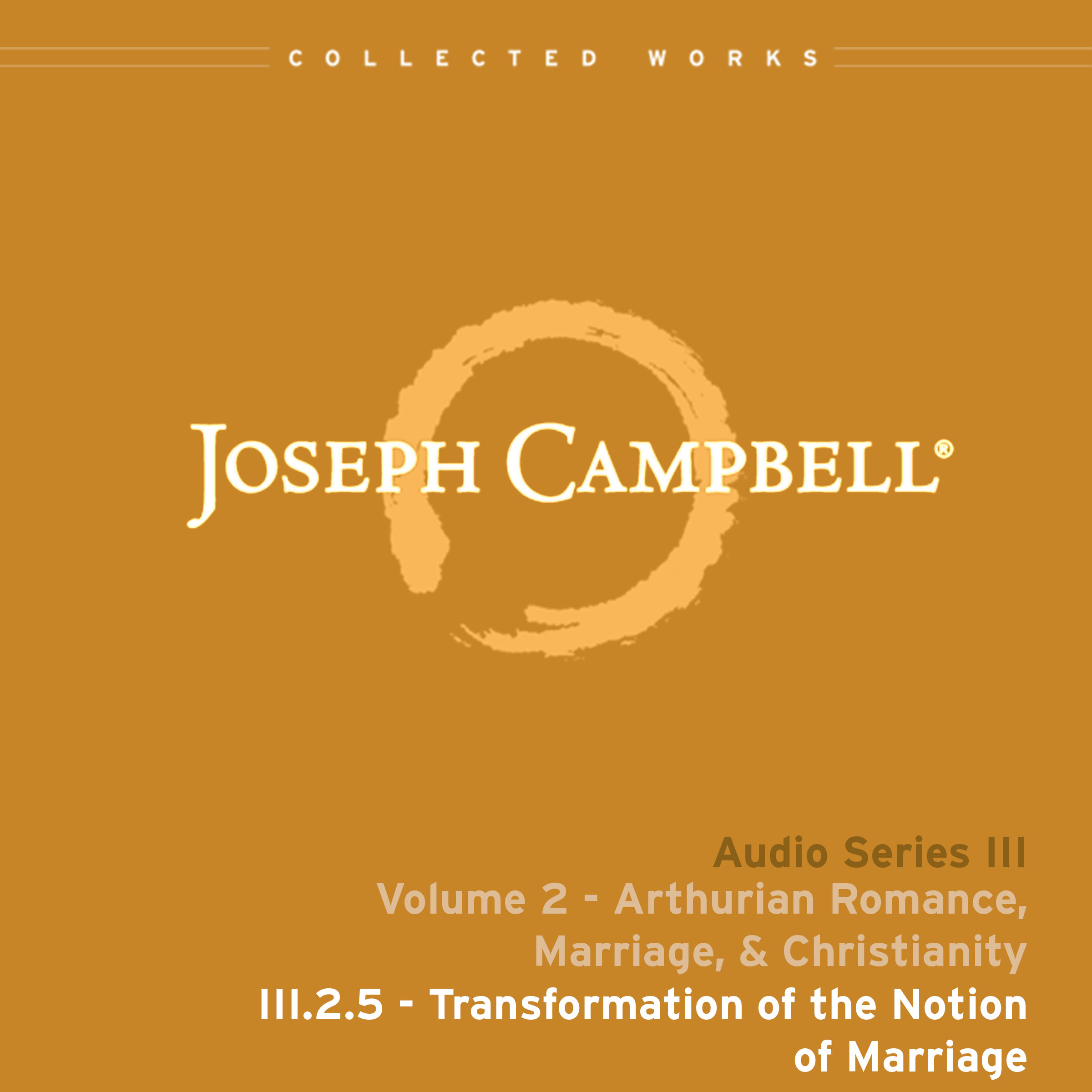 Transformation of the Notion of Marriage (Audio: Lecture III.2.5)